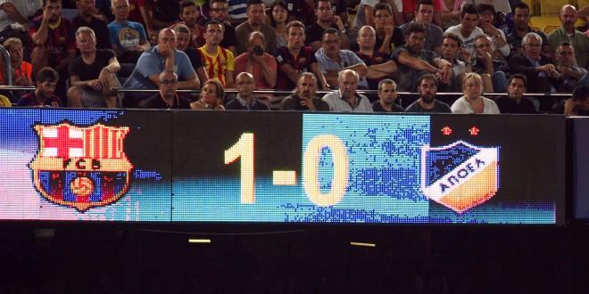 e05 barcelona apoel final score camp nou
