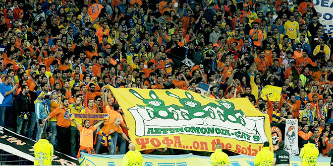 e09 porto apoel fans psofa on the sofa