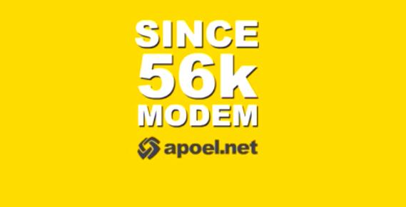 since 56k modem apoel.net